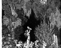 FOREST FANTASIES children's fairy songs- by Walter Carroll Illus. by W. Heath Robinson (softcover) c1916