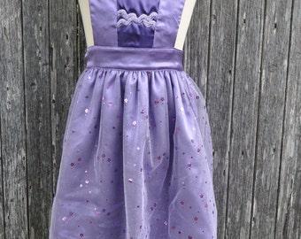 Dress Up Princess Apron Purple #112