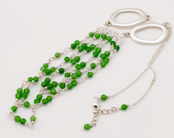 Layered Necklace - Triple strand Candy Jade necklace