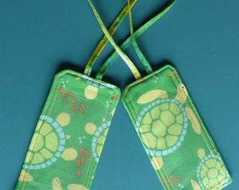 Sea Turtle Luggage Tags / Set of 2