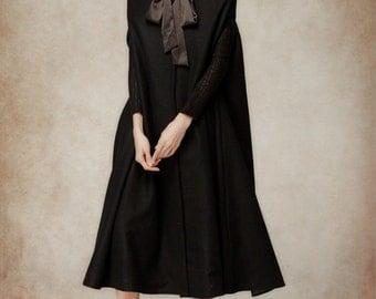 wool coat in black, maxi hooded cloak in red grey, winter coat jacket, cashmere wool coat jacket, black cloak. cloak cape, long hooded cloak