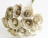 Paper Book Flowers - Roses Made from Classic Novels, Modern Literature - Bridesmaid Bouquet - Eco Home and Wedding Decor