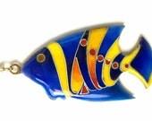 Fish Enamel Pendant (Vitreous enamel jewelry) cloisonné