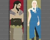 Game of Thrones Bookmark – Khal Drogo – Daenerys Targaryen – Khaleesi – Dothraki – Drogo x Daenerys OTP – choose design