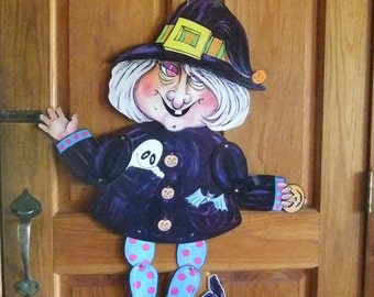 sale jointed witch halloween wall decoration 1980s vintage halloween paper decoration - Vintage Halloween Decorations For Sale
