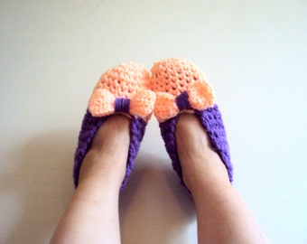 Crochet Slippers Bow Slippers Extra Thick Indoor Shoes House Shoies Lounge Slippers Women Fashion Accessories Gift Ideas