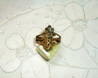 Ancient Ring, Ancient Byzantine Ring, Vintage Ring, Statement Ring, Ancient Gilt Ring, Ancient Bronze, Ancient Statement Ring, Tribal Ring