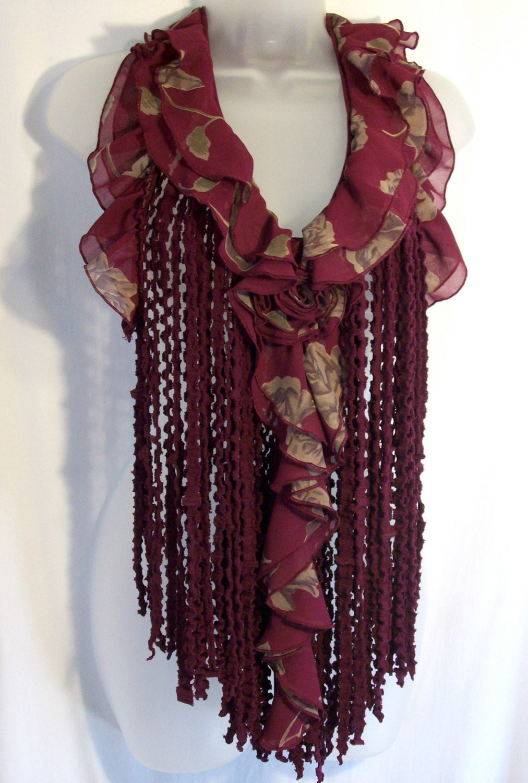 Romantic Clothing Boho Scarf Feminine Clothing Fringe