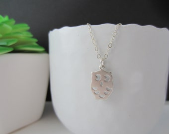 Owl necklace,Owl pendant,owl,Silver pendant,Everyday,Gift,Owl jewel,BBF - Sterling Silver Chain