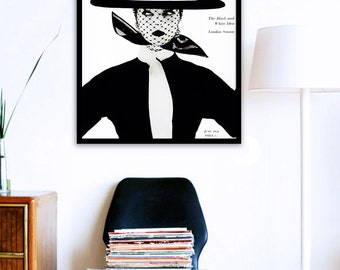 Vogue Cover Poster PRINTABLE FILE - Fashion art poster, Gift For her, Mode Affiche, Dorm room, Vintage Vogue poster, instant download