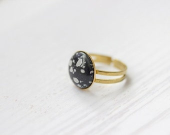 Speckled Ethno Ring in Brass