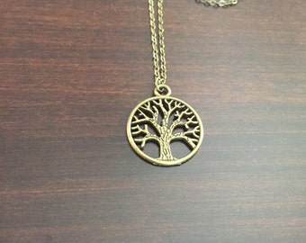 bronze tree necklace, tree of life necklace, tree necklace, tree, bronze tree, small tree necklace, small necklace, bronze necklace