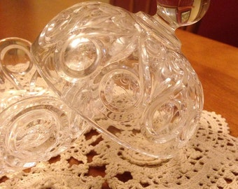 Beautiful Leaded Crystal Glass Candy Dish