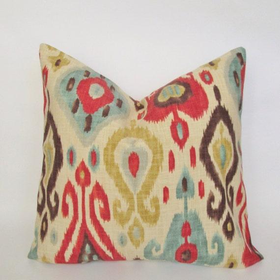 Decorative Pillows Covers 18x18 : Ikat Decorative Pillow Cover 18x18 20x20 Square Throw Pillow