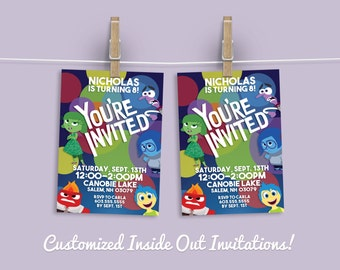Inside Out Birthday Party Invitation