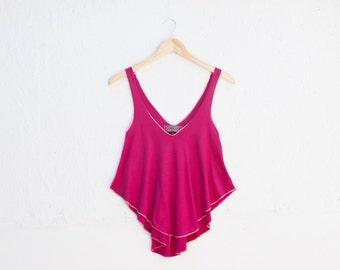 SALE 50% OFF - Women's Organic Fuchsia Pink Swing Tank Top - Small