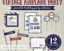 ... Plane Party Decor . Airplane Party Decorations . Birthday Party