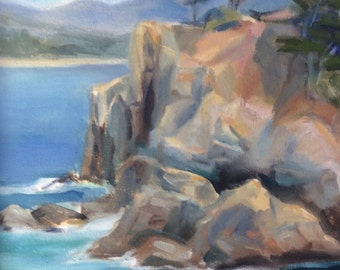 Rock Cliffs of Point Lobos with Cypress