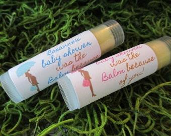 Baby Shower Favor Lip Balm Organic Baby Shower Lip Balm Favor Blue Shower Favor Baby Pink Shower Favor Lip Balm Girls Boys Lip Balm Favor
