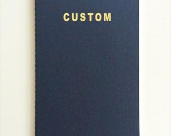 Blue Moleskine Notebook with Gold Foil Print