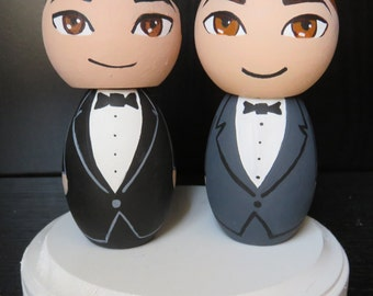 Mr. and Mr. Wedding Cake Topper