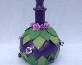 Purple Magic Bottle Potion Bottle Fairy Bottle Witches Bottle Wizard Bottle