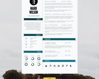 modern resume template cv template cv design cover letter for ms word - Resume Template Cover Letter