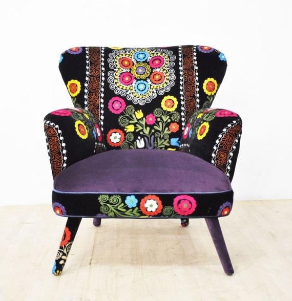 Suzani armchair dusk by namedesignstudio on Etsy