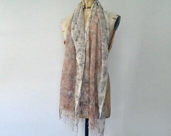 wild staghorn sumac eco print shawl