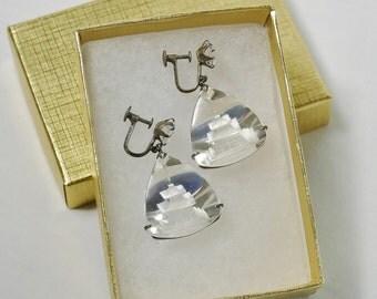 Vintage Glass Pagoda Earrings