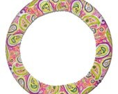 Steering Wheel Cover Mod Pink Paisley-Car Accessory for Women-Paisley Car Decor-Car Steer Wheel Cover-Cute Car Accessory