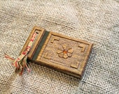 Vintage Handmade Wooden Book ~ Blank Pages ~ South East Asian