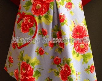 """Delantal/Apron/Tablier   """"Vintage Flores"""" Exclusivo único en stock"""