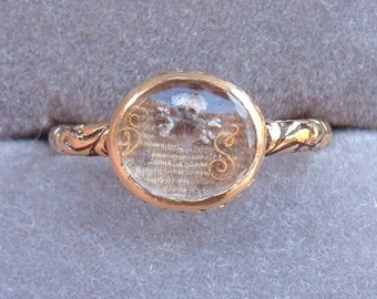 1690s Memento Mori Stuart Era Enameled Skull And Crossbones Hair Mourning Ring