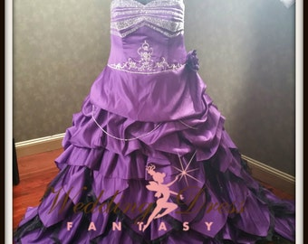 Plus Size Purple Wedding Dress READY TO SHIP