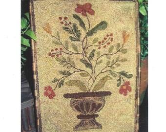 Goos Nest - Punchneedle Embroidery Pattern - Garden Urn