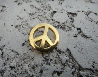 Single PEACE Sign Button Sew Sewing Supplies