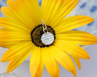 Sterling Silver Round Lace Pendant