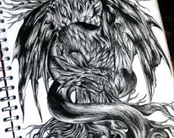 dragon print
