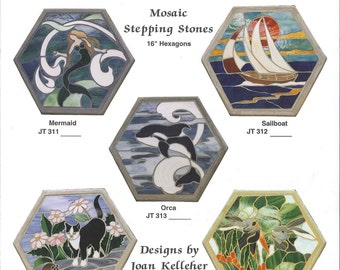 Mosaic Stepping Stone Pattern