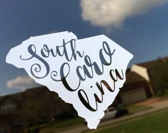 State of South Carolina Cutout Decal Sticker