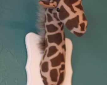 mounted giraffe head