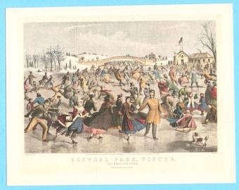 Central Park in Winter book illustration.