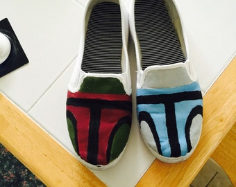 Starwars custom painted shoes