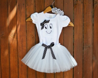 Ghost Halloween Outfit or Costume: Toddler Girls