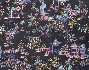 "Liberty of London Tana Lawn 2015 Autumn/Winter Art Collection PEONY PAVILION D - sold by XL Fat Quarter (19.75"" x 26.75"") or by 1/4 Metre"