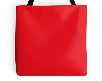 Red Tote Bag, Red Bag, Red Purse, Red Tote, Red Bookbag, Red Handbag, Solid Red Bag, Solid Red Tote, Red Tote Bag, Red Accessories, Red