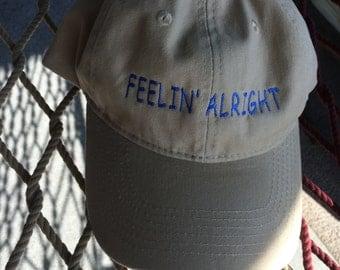 Feelin' Alright - Khaki w/Jay Blue Lettering