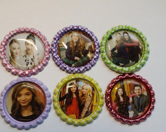 Set of 6 Girl Meets World Finished Bottle Caps - Magnets - Necklaces