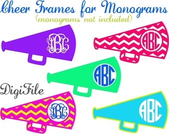 Cheer Frames for Monograms  SVG, DXF, EPS, for Cricut Design Space, Silhouette, Sure Cuts A Lot, Makes the Cut, Vinyl Cutters